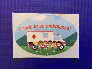 I Rode In An Ambulance! Stickers